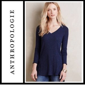 Anthropologie Deletta Ribbed tunic